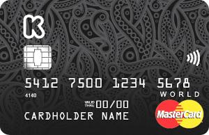 карта Кукуруза World MasterCard Black